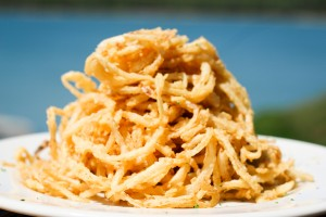 Onion Straws at Ainsley's